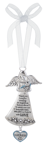Angel Crib Ornament - God Bless our Baby