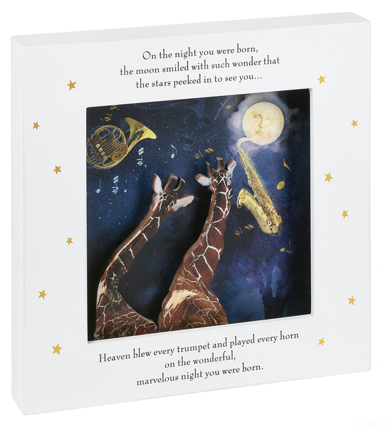 The Night You Were Born Shadow Box Plaque