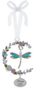 Dragonfly Ornament - Always in my thoughts