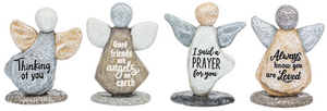 Pebble Art Angels Figurines