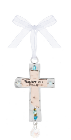 Teachers are a blessing - Cross Ornament