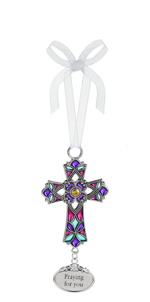 Silver Cross Ornament