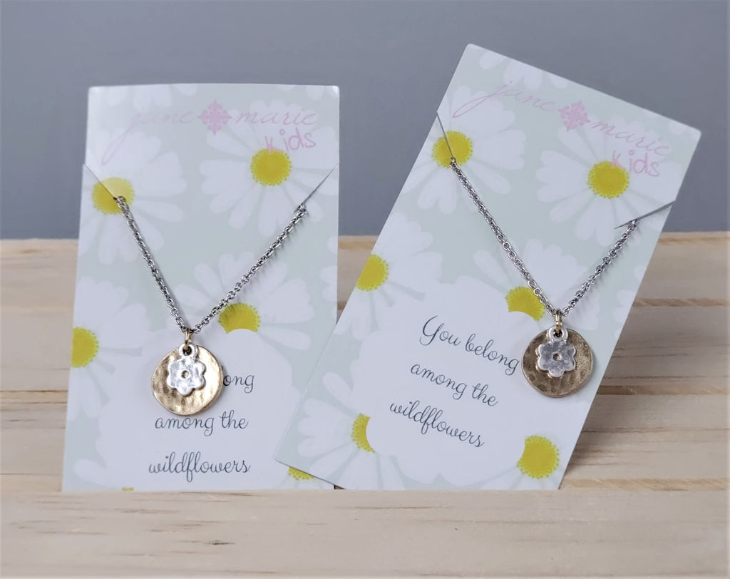 Childs Silver Wildflower Necklace