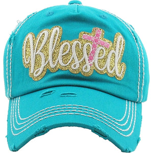 Blessed Vintage Distressed Ball Cap