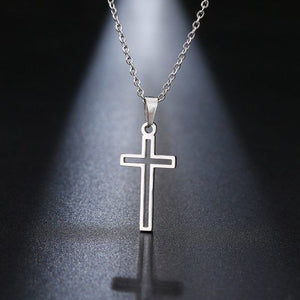 Open Cross - Stainless Steel