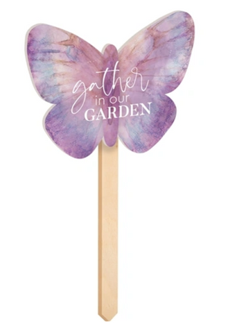 GATHER IN OUR GARDEN Wood Garden Stake