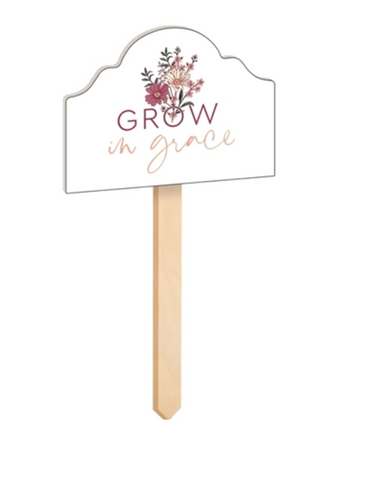 GROW IN GRACE Wood Garden Stake