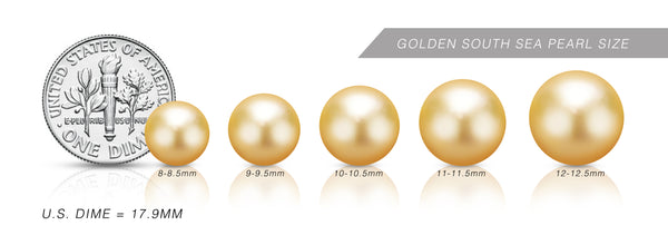Golden South Sea Pearl Size Chart