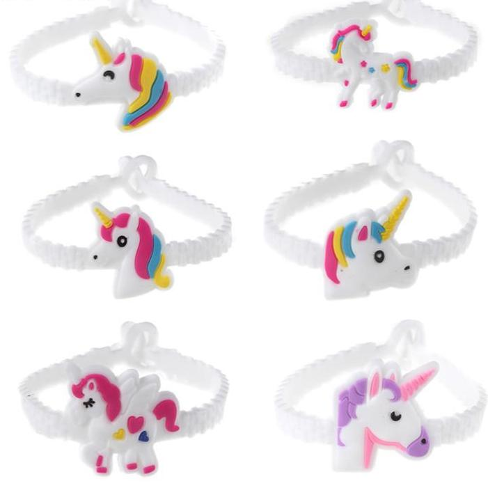Unicorn Silicone Kids Jewelry Bracelet - 6pcs