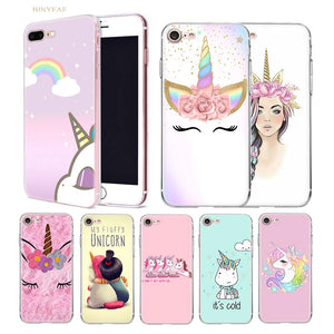 Unicorn Transparent case cover for iphone