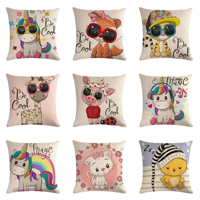 Cute Cushion Cover Unicorn