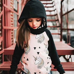 Unicorn Hoodie Sweatshirts Kids Autumn
