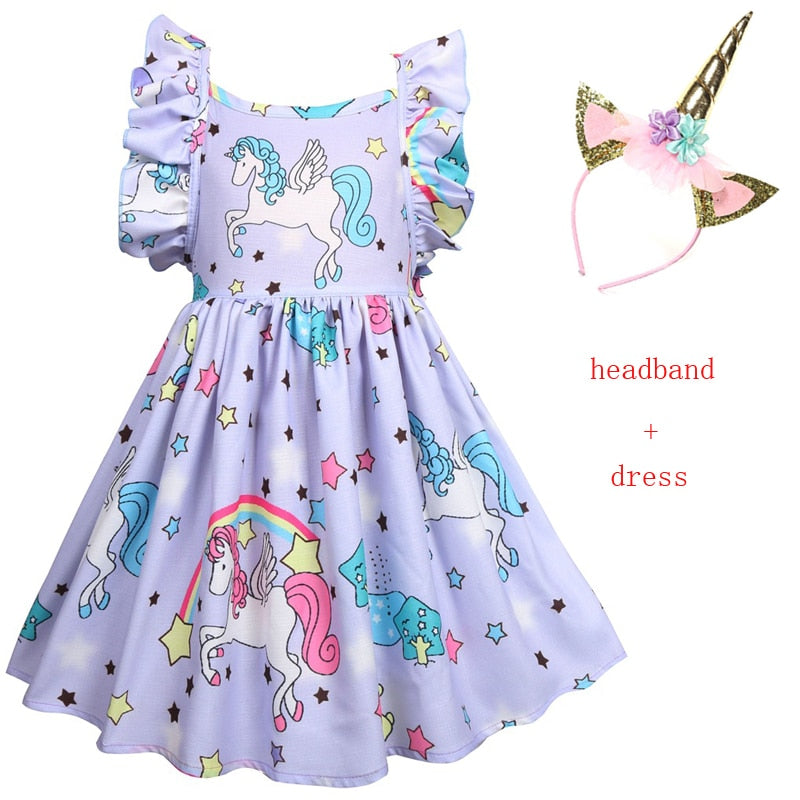 Kids Baby tutu Dress Unicorn Costumes for girls Children