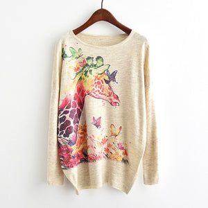 Unicorn Quality Sweater Woman girls knitting Cartoon