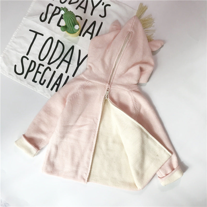 Unicorn Kids Clothes Spring Baby Sweater