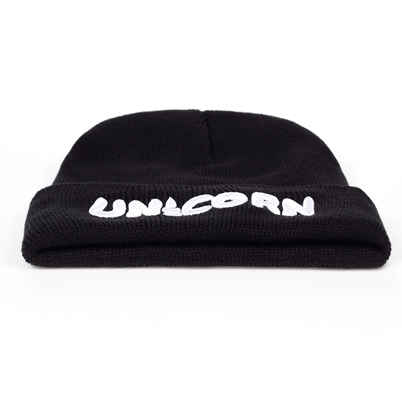 VORON New Beanies Winter Hat For Women Bonnet Caps Black UNICORN Women's Winter Hats For Men Knit Hat Warm Skullies Gorros