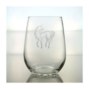 Fantasy Unicorn 17 oz Stemless Party Water Glass