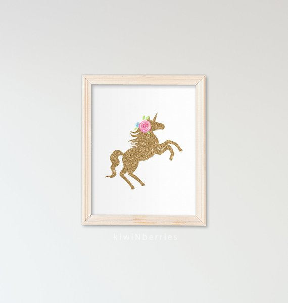 Unicorn wall art set