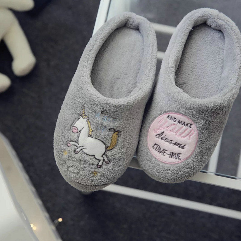 Cute Unicorn Women Slippers