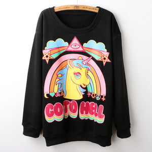Unicorn GO TO HELL 3D Hoodie