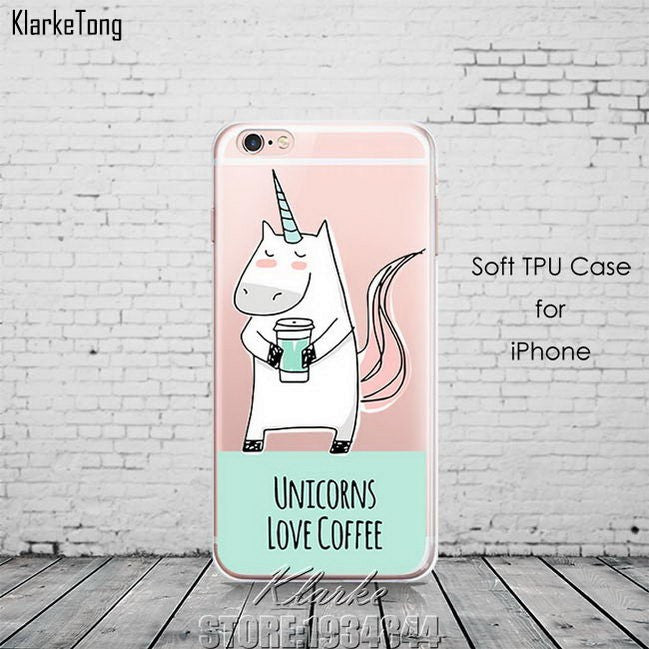 Cute Rainbow Unicorn iPhone 6 6s 5 5s SE 7/7 8/8Plus/ x Cases