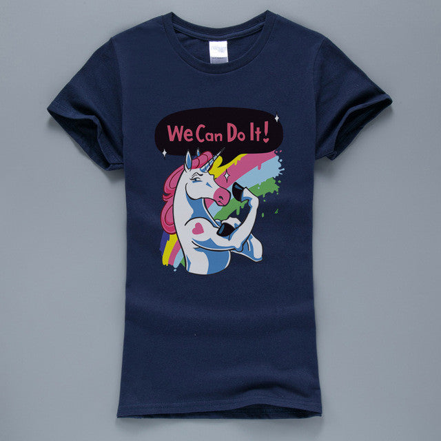 Unicorn We Can Do It T-Shirt