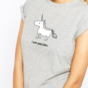 Cute Unicorn Printed Summer T-shirt
