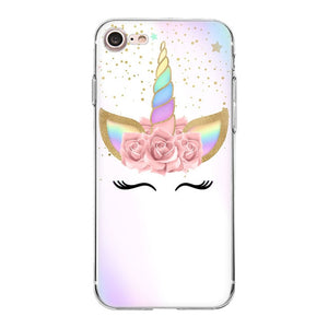 Transparent Unicorn case cover for iphone