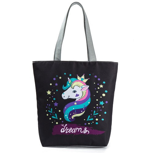 Women Unicorn Tote Handbag