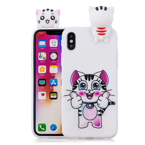 Phone Case on for iphone XS Cover for iPhone XS Max XR X 5s 6 6s 7 8 Plus Capa 3D Silicon Dolls Toys Cartoon Soft TPU Case Coque