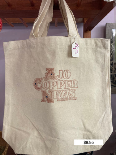 Ajo Copper News Tote Bag