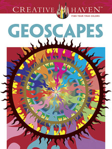 Geoscapes Coloring Book
