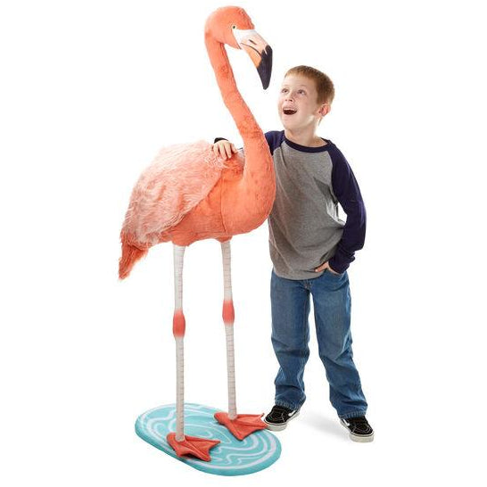 Melissa & Doug Lifelike Plush Flamingo