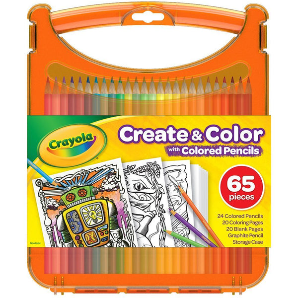 Crayola Create & Colour Case with Pencil Crayons