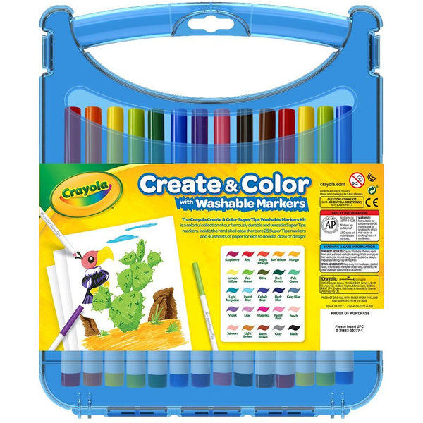 Crayola Create & Colour Case with Washable Markers