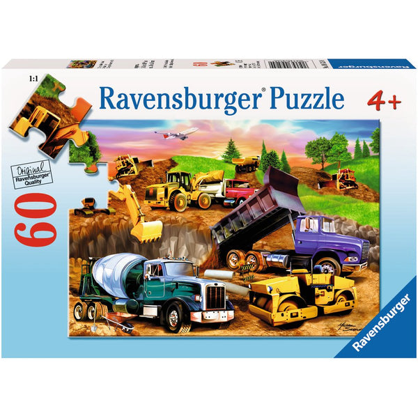Ravensburger 60 Piece Puzzle Construction Crowd.