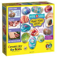 Creativity for Kids Hide & Seek Paint Pour Rocks canada ontario