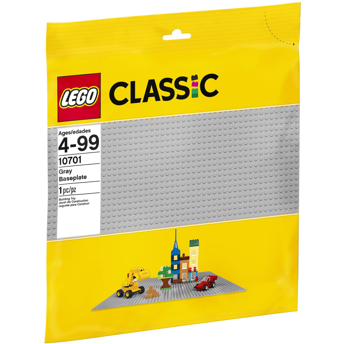 LEGO Classic Grey Baseplate Package Front