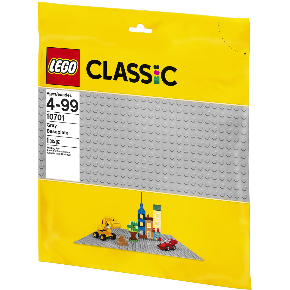 LEGO Classic Grey Baseplate Package Back