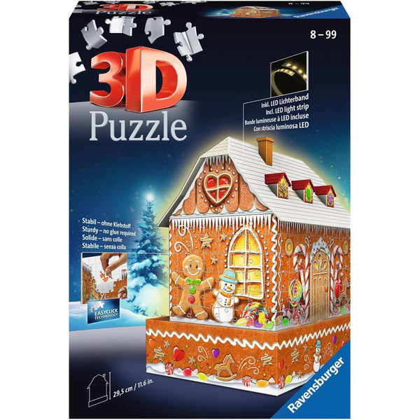 Ravensburger 3D Puzzle Ginger Bread House led lights canada ontario 11237