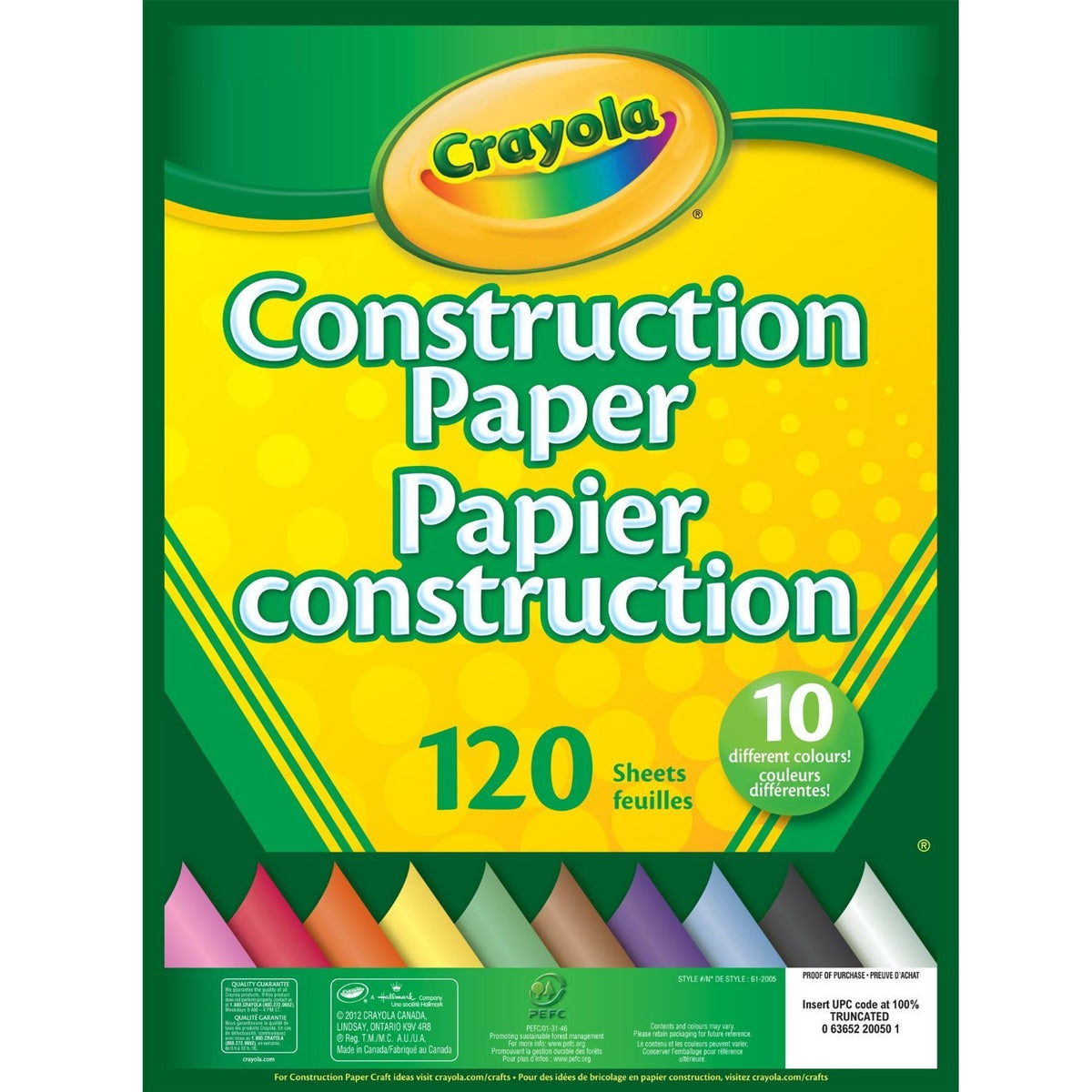 Crayola Construction Paper Pad 120 Pack
