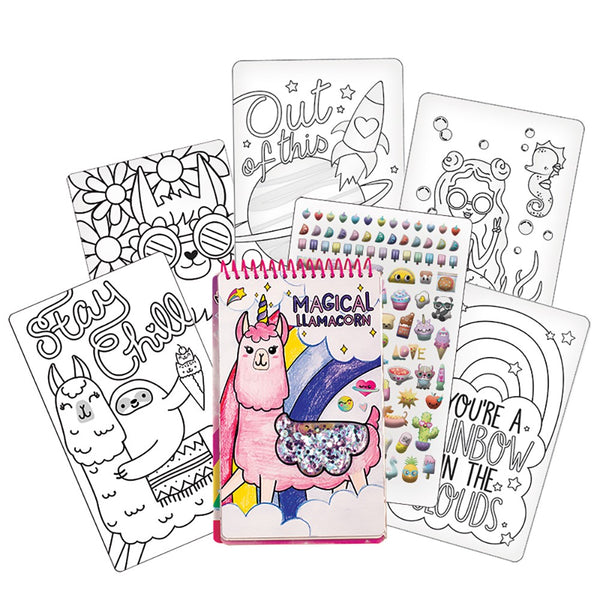 Fashion Angels Llama Sequin Shaker Compact Sketch Portfolio Set 12382 canada ontario