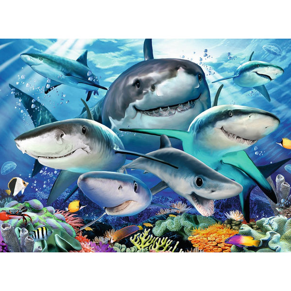 Ravensburger 300 Piece Puzzle Smiling Sharks