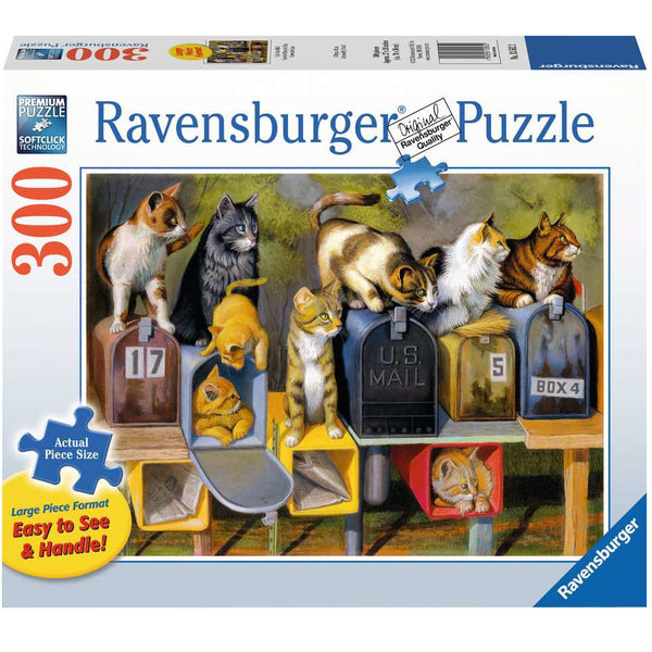 Ravensburger 300 Piece Puzzle Large Format Cat's Got Mail 13562 canada ontario