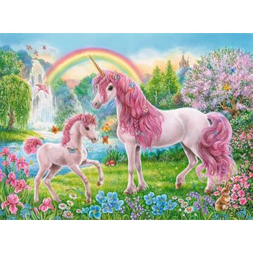 Ravensburger 100 Piece Puzzle Magical Unicorns with Colouring Booklet