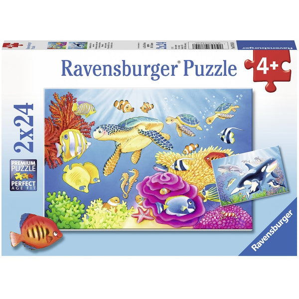 Ravensburger 2 x 24 Piece Puzzle Vibrance Under the Sea 07815 canada ontario