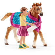 Schleich Foal with Blanket horse club 42361