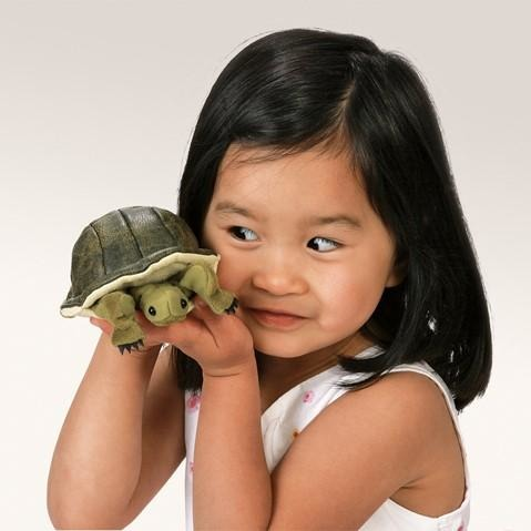 Folkmanis Turtle Finger Puppet Demo