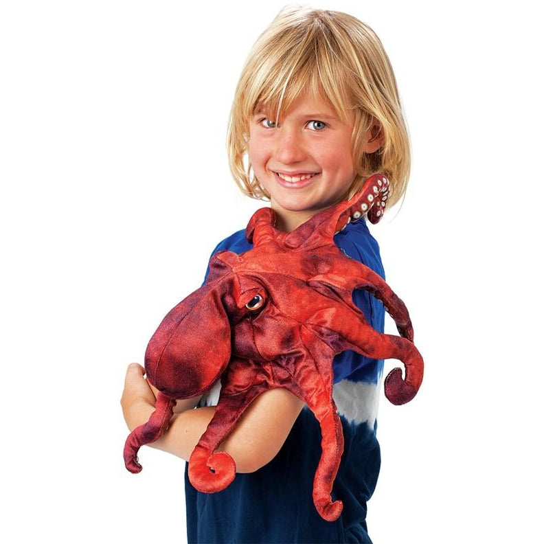 Folkmanis Red Octopus Puppet