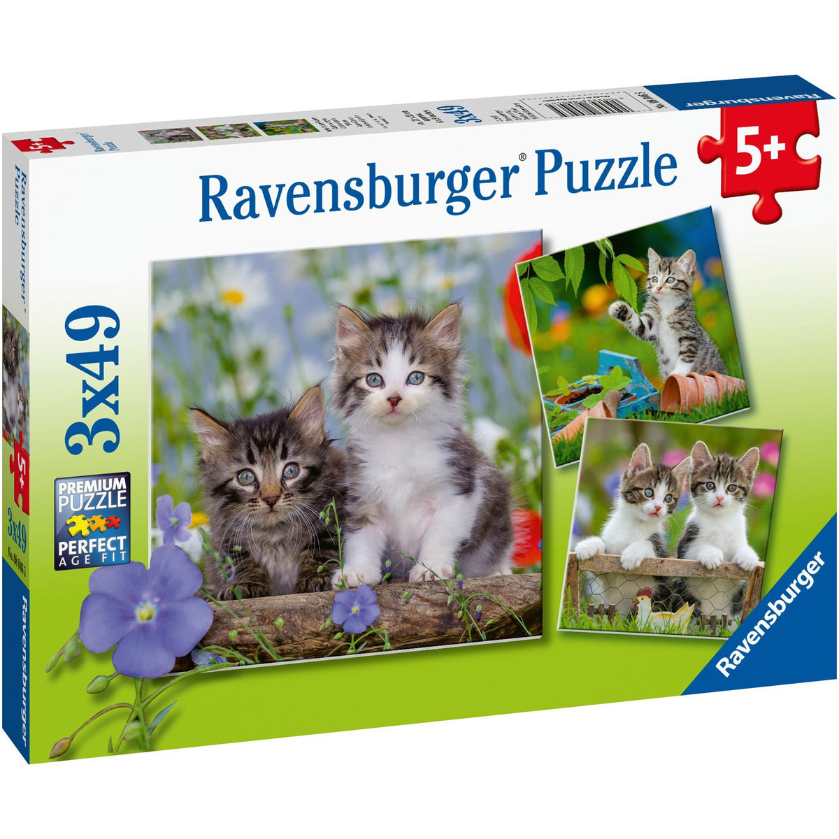 Ravensburger 3 x 49 Piece Puzzle Tiger Kittens 08046 canada ontario children kid jigsaw